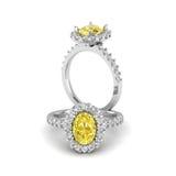 Anel citrino Fotografia de Stock Royalty Free