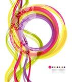 Anel colorido e onda vertical Imagem de Stock Royalty Free
