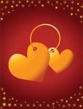 Anel com corações Fotografia de Stock