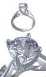 Anel com diamante Fotografia de Stock
