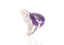 Anel com gemas e esmalte Imagens de Stock Royalty Free
