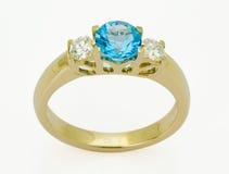 Anel com os diamantes Fotografia de Stock