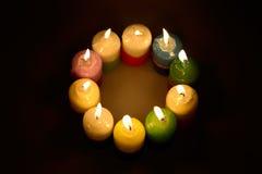 Anel com velas Fotografia de Stock
