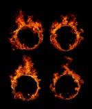 Anel da coleção do fogo fotografia de stock royalty free