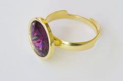 Anel da pedra de gema Fotografia de Stock Royalty Free