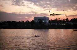 Anel de borracha do flutuador no centro de esportes da água Imagens de Stock Royalty Free