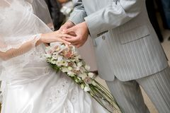Aliança de casamento fotos de stock