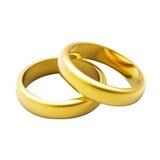 anel de casamento do ouro 3d Imagem de Stock