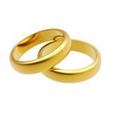 anel de casamento do ouro 3d Imagens de Stock