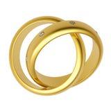 anel de casamento do ouro 3d Fotos de Stock Royalty Free
