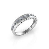 Anel de casamento no fundo branco Imagem de Stock Royalty Free