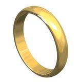 Anel de casamento no ouro 3D v3 Fotos de Stock