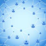 Anel de conexão do usuário do círculo de Friendzone Fotografia de Stock Royalty Free