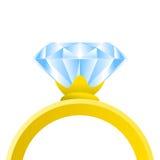 Anel de diamante Fotografia de Stock