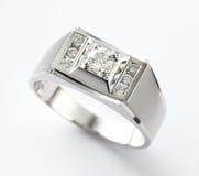 Anel de diamante Imagens de Stock