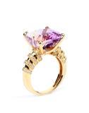Anel de diamante clássico Fotografia de Stock