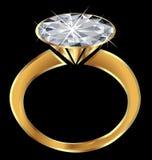 Anel de diamante da faísca Fotos de Stock Royalty Free
