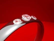 Anel de diamante da platina Imagens de Stock Royalty Free
