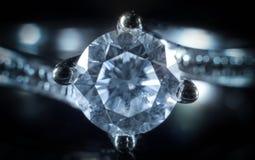Anel de diamante de Whitegold Imagens de Stock