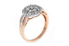 Anel de diamante do ouro Imagem de Stock