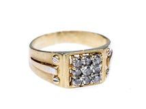 Anel de diamante masculino Imagens de Stock