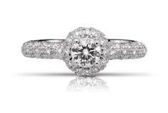 Anel de diamante Sparkling foto de stock royalty free