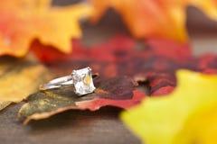 Anel de Diamond Engagement Imagens de Stock