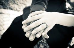 Anel de noivado Foto de Stock