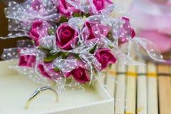 Anel de noivado Fotos de Stock Royalty Free