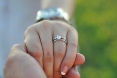 Anel de noivado Foto de Stock Royalty Free