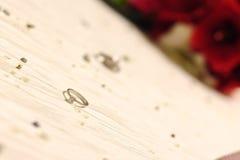 Anel de noivado com diamante Imagens de Stock Royalty Free