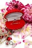 Anel de ouro Imagem de Stock Royalty Free