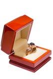 Anel de ouro bonito Imagem de Stock