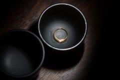 Anel de ouro com diamante Foto de Stock