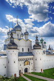 Anel de ouro de Rússia do oblast de Yaroslavl do Kremlin de Rostov imagens de stock