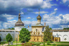 Anel de ouro de Rússia do oblast de Yaroslavl do Kremlin de Rostov Foto de Stock