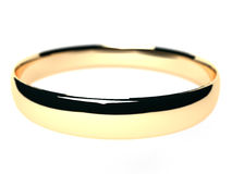 Anel de ouro isolado no branco. Imagens de Stock