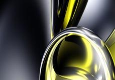 Anel de prata na luz amarela 01 ilustração stock