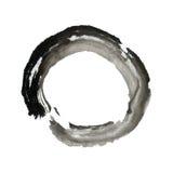 Anel do círculo da pintura da escova do zen ilustração do vetor