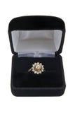 Anel do conjunto do diamante Imagens de Stock