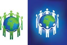 Anel do globo de Eco Imagem de Stock Royalty Free