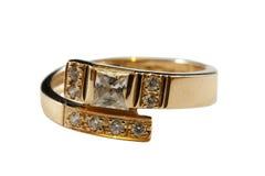 Anel dourado Imagem de Stock Royalty Free