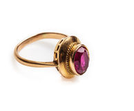Anel dourado Imagens de Stock Royalty Free