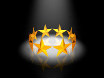 Anel dourado das estrelas Fotografia de Stock Royalty Free
