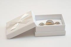 Anel e brincos dourados Foto de Stock Royalty Free