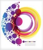 Anel e crescente coloridos ilustração stock