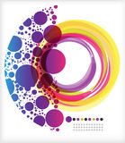 Anel e crescente coloridos Foto de Stock