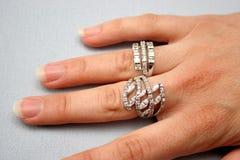 Anel e mão Fotografia de Stock Royalty Free