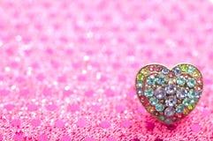 Anel Heart-shaped Imagem de Stock