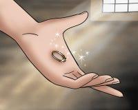 Anel mágico - contos de fadas Fotografia de Stock